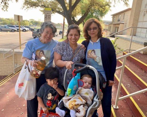Yolanda with a family